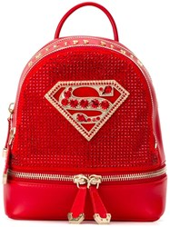 Philipp Plein Xs 'Princess' Backpack Red