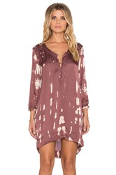 Gypsy 05 V Neck Tunic Dress Wine