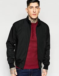 Fred Perry Laurel Wreath Harrington Jacket Made In England Black
