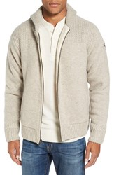 Schott Nyc Men's Lined Wool Zip Sweater