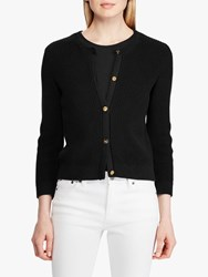 Ralph Lauren Annalie Cotton Cardigan Black