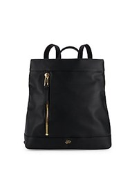 Vince Camuto Top Zip Leather Backpack Black