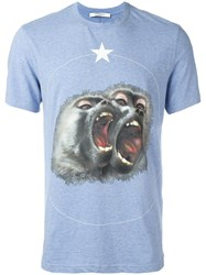 Givenchy Monkey Brothers Printed T Shirt Blue