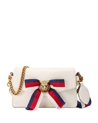 Gucci Leather Bow Flap Top Bag White