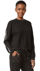 Monreal London Cropped Sweatshirt Black White