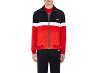 Givenchy Men's Colorblocked Track Jacket Black White Red