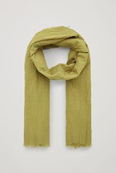 Cos Crinkled Organic Cotton Scarf Yellow