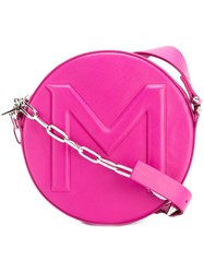 Thierry Mugler Round Crossbody Bag Pink Purple