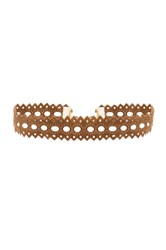 Vanessa Mooney Cut Out Choker Tan
