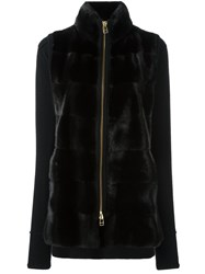 Liska Mink Fur Panel Jacket Black
