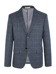 Racing Green Men's Martin Check Blazer Blue