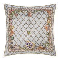 Roberto Cavalli New Spider Silk Cushion Grey Multi Grey