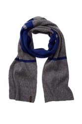 Ben Sherman Colorblock Knit Scarf Blue