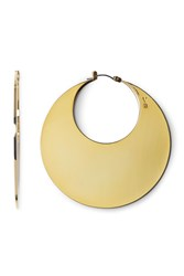 Vince Camuto Drama Disc Hoop Earrings Gold 01