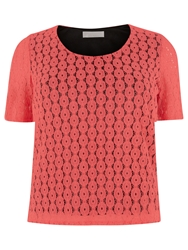Windsmoor Lace Jersey Top Mid Pink