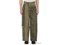 Craig Green Men's Quilted Cotton Wool Trousers Blue