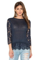 Generation Love Jessica Lace Top Navy