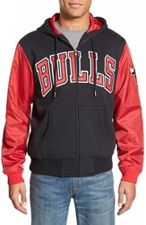 Men's Mitchell And Ness 'Chicago Bulls Skill Position' Tailored Fit Hooded Fleece Jacket