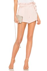 David Lerner Waist Tie Shorts Blush