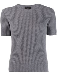 Roberto Collina Elefante Knitted Top Grey