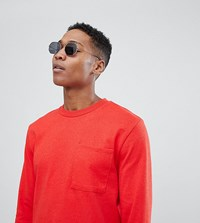 Noak T Shirt In Relaxed Fit With Long Sleeves Red