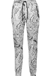 Koral Loft Printed Cotton Blend Track Pants White