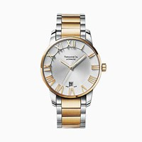 Tiffany And Co. Atlas 3 Hand 37.5 Mm Watch In Stainless Steel 18K Gold. 18K Ylw Gold Stainless Steel