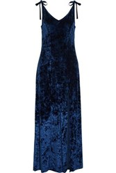 W118 By Walter Baker Owen Crushed Velvet Maxi Dress Navy