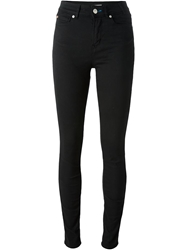 Paul By Paul Smith High Waist Skinny Jeans Black