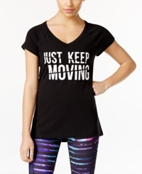 Ideology Keep Moving Graphic T Shirt Only At Macy's Noir