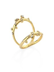 Alexis Bittar Elements Crystal Two Part Ring Gold
