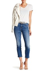 7 For All Mankind Ankle Slim Straight Jean Blue