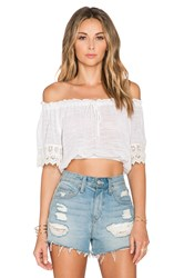 Band Of Gypsies Crop Top White