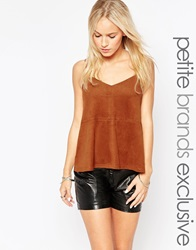 New Look Petite Suedette Cami Tan
