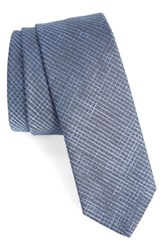 Boss Men's Check Silk Skinny Tie
