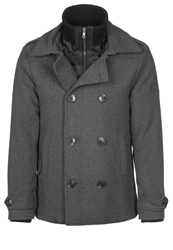 Petrol Industries Short Coat Steal Melee Grey