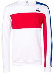 Le Coq Sportif Embroidered Logo Sweatshirt White