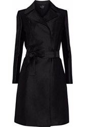 Carolina Herrera Cotton And Silk Blend Gabardine Trench Coat Black