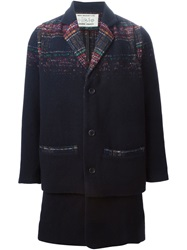 Henrik Vibskov Tartan Detail Coat Multicolour