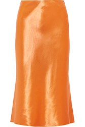 Tibi Satin Skirt Orange
