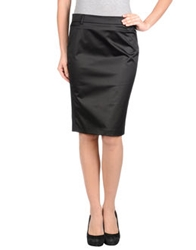 Pinko Knee Length Skirts Black