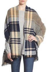 Junior Women's David And Young Chevron Plaid Reversible Wrap