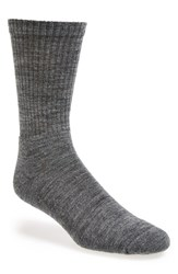 Smartwool Men's 'New Heathered' Ribbed Crew Socks Medium Grey Heather