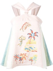 Peter Pilotto Embroidered Pastel Blouse