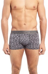 Naked Men's Philosophy Trunks White Black Heather