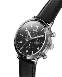 Shinola 45Mm Canfield Chronograph Watch Black