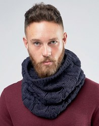 French Connection Cable Snood Blue