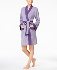 Charter Club Double Knit Robe Purple Heather