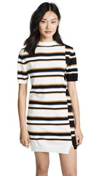 Maison Kitsune Surf Stripe Dress Ecru