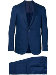 Canali Tailored Two Piece Suit Blue